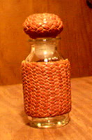 braided leather pineapple knot covered bottles