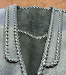 Here is a close up of the front lapels of this vest.