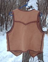This back view of the vest shows a better view of the back yoke.