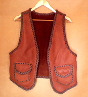 All of the hand braided leather vests that I build are also discussed at length with the customer. This includes what size, length, color/s, pocket types, yokes (front and/or back), and other features the customer requests.