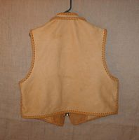 the back of this elkskin leather vest
