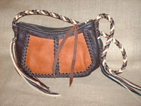 custom and handmade leather shoulder bag