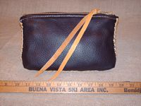 leather belt pouch made in the USA with braided leather