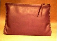 leather portfolio hand madeusing moccasin cowhide