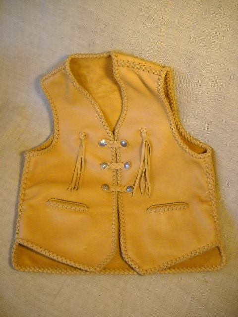 custom leather vest with tassels